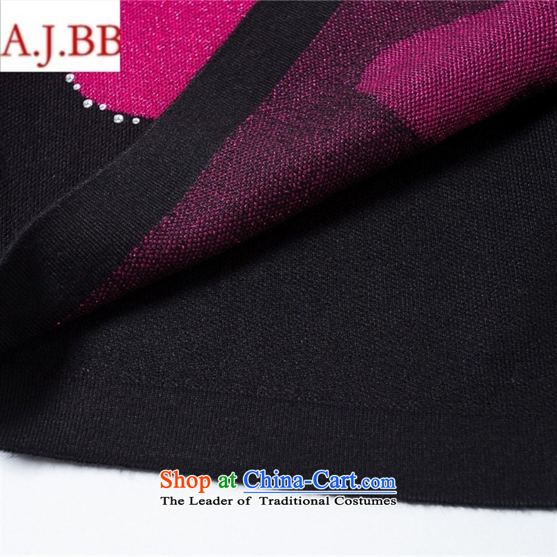 September clothes shops *2015 autumn and winter new MOM pack ironing drill in older relaxd Knitted Shirt in large long coats of red聽120,A.J.BB,,, sweater shopping on the Internet