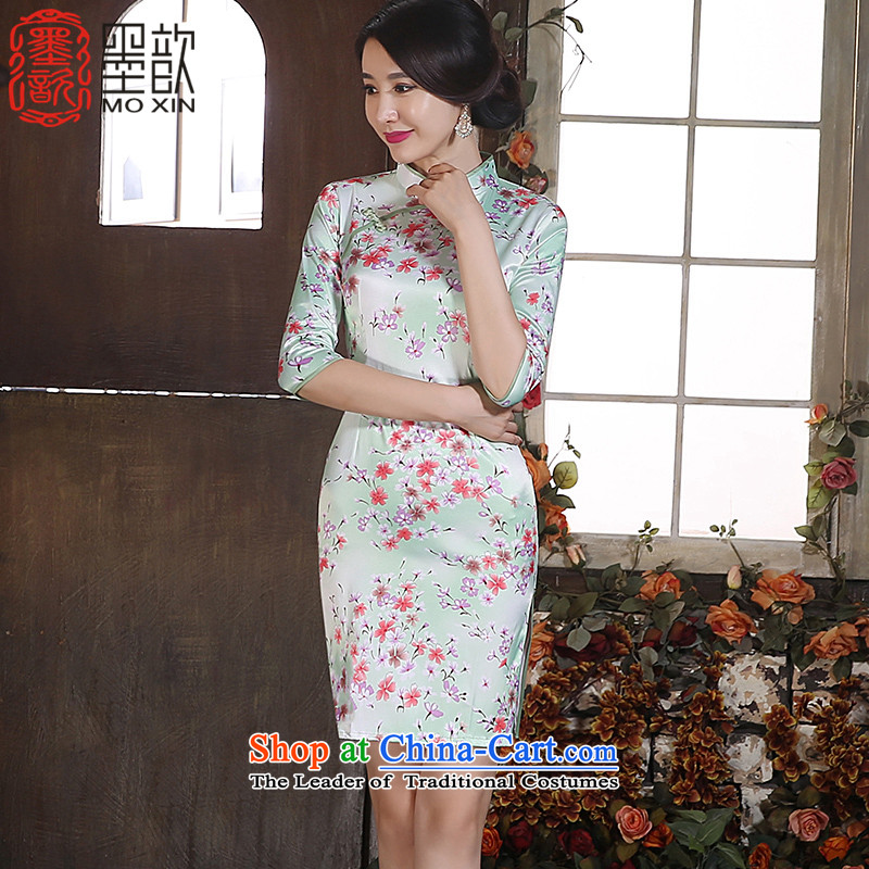 The poem Yui�15 improvements ? qipao fall inside the new floral Ms. cheongsam dress in stylish retro long skirt燴A3G05 qipao爌icture color燣
