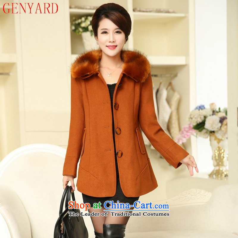 In the number of older women's GENYARD autumn and winter coats? New gross large middle-aged moms with gross for the autumn a wool coat in the long red燲L