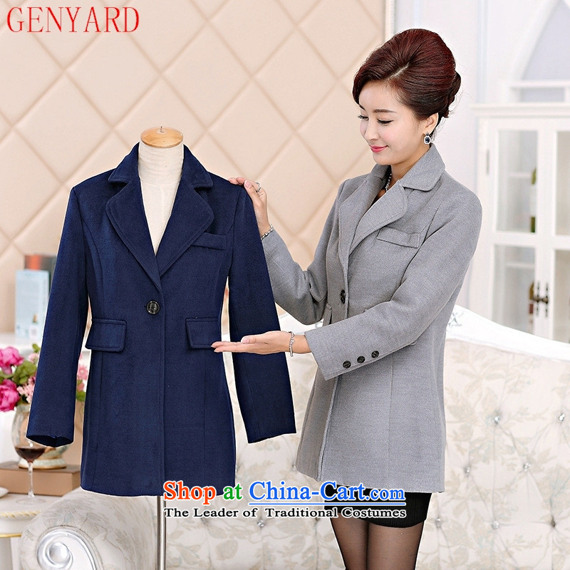 Gross? female jacket GENYARD 2015 new moms with middle-aged female loaded in the autumn jackets, long, older cashmere sweater�XXXL turmeric yellow