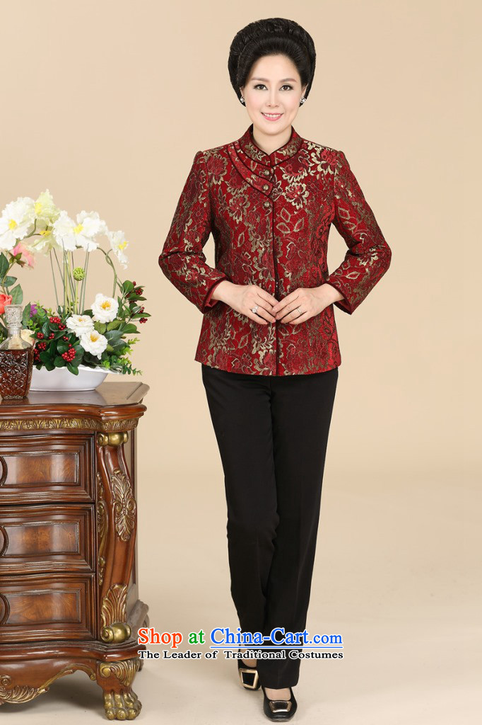 In the number of older women's GENYARD spring and autumn jacket new elderly mother replacing Tang dynasty collar China wind jacket embroidered red聽L picture, prices, brand platters! The elections are supplied in the national character of distribution, so action, buy now enjoy more preferential! As soon as possible.