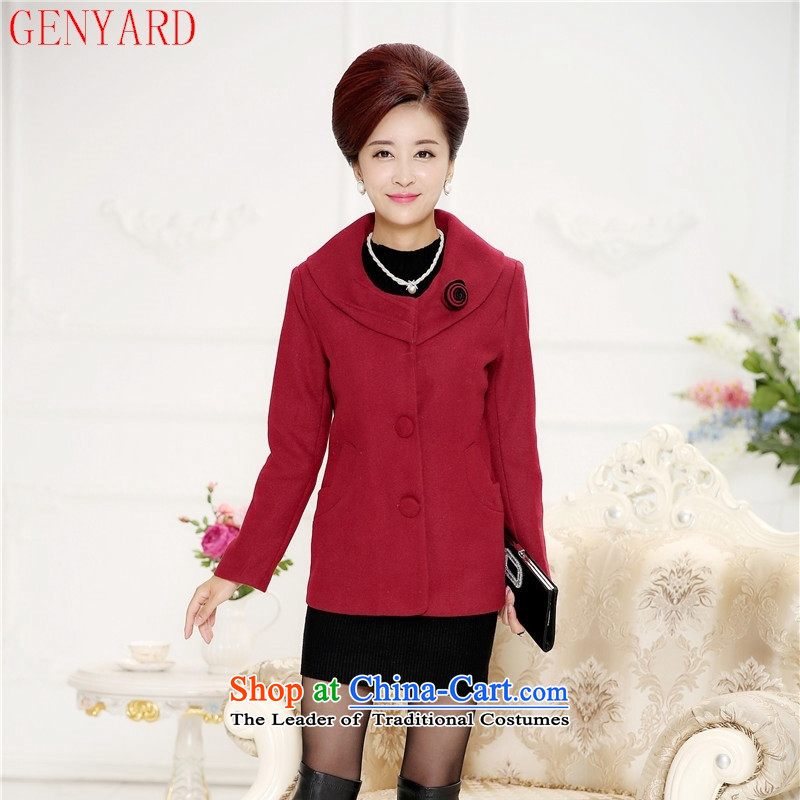 The elderly in the new GENYARD2015 female autumn jackets middle-aged mother with thin Sau San, the fleece? suits khaki?XXXXL