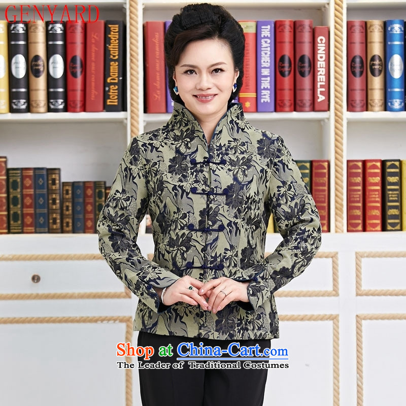 Replace the spring and autumn in GENYARD new president of ethnic Chinese Jacket coat Tang dynasty fashion during the spring and autumn he had lent 1.087 mother improved red聽XXXL