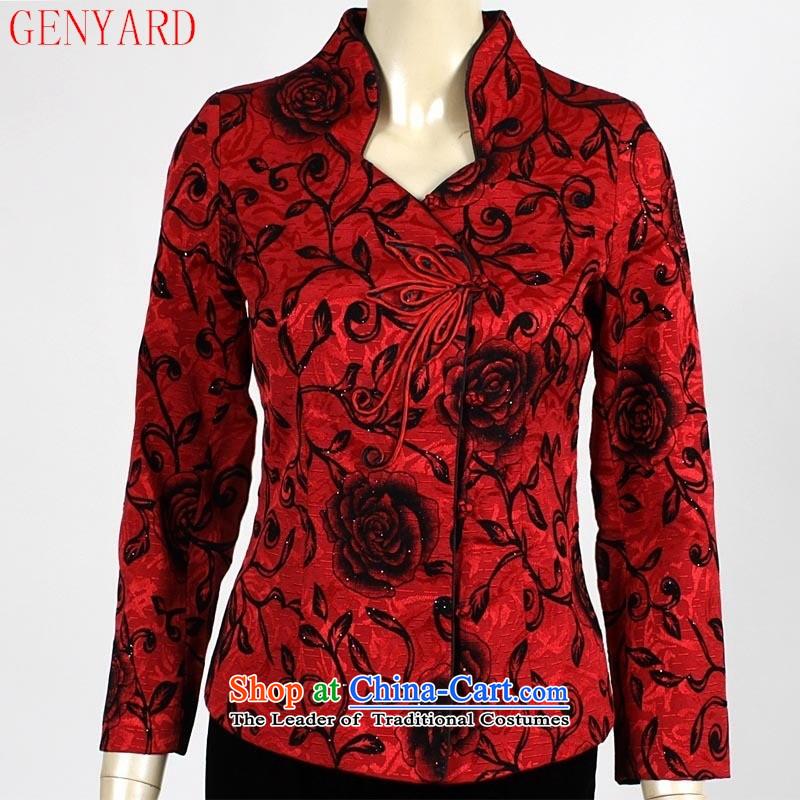 In the number of older women's GENYARD Chun Tang dynasty jacket girl mothers spring new women's mother red聽XXL