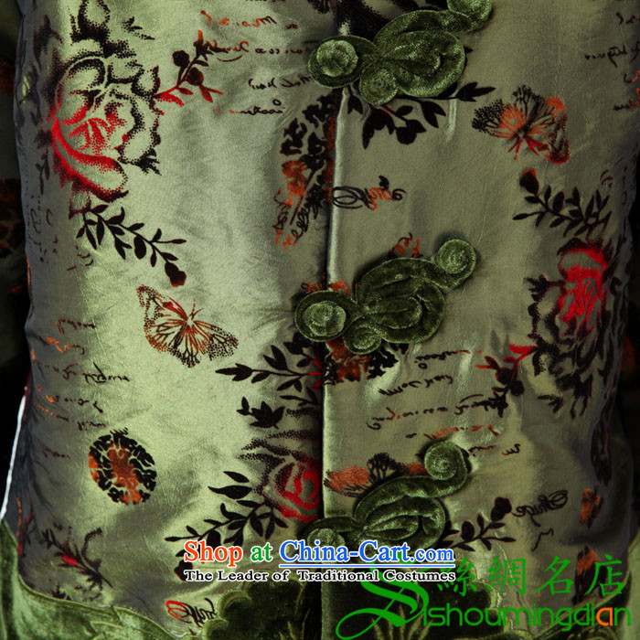 Ms. older GENYARD Tang dynasty women women's cotton clothing Chinese shirt Fall/Winter Collections cotton robe MOM pack green services聽XL Photo, prices, brand platters! The elections are supplied in the national character of distribution, so action, buy now enjoy more preferential! As soon as possible.