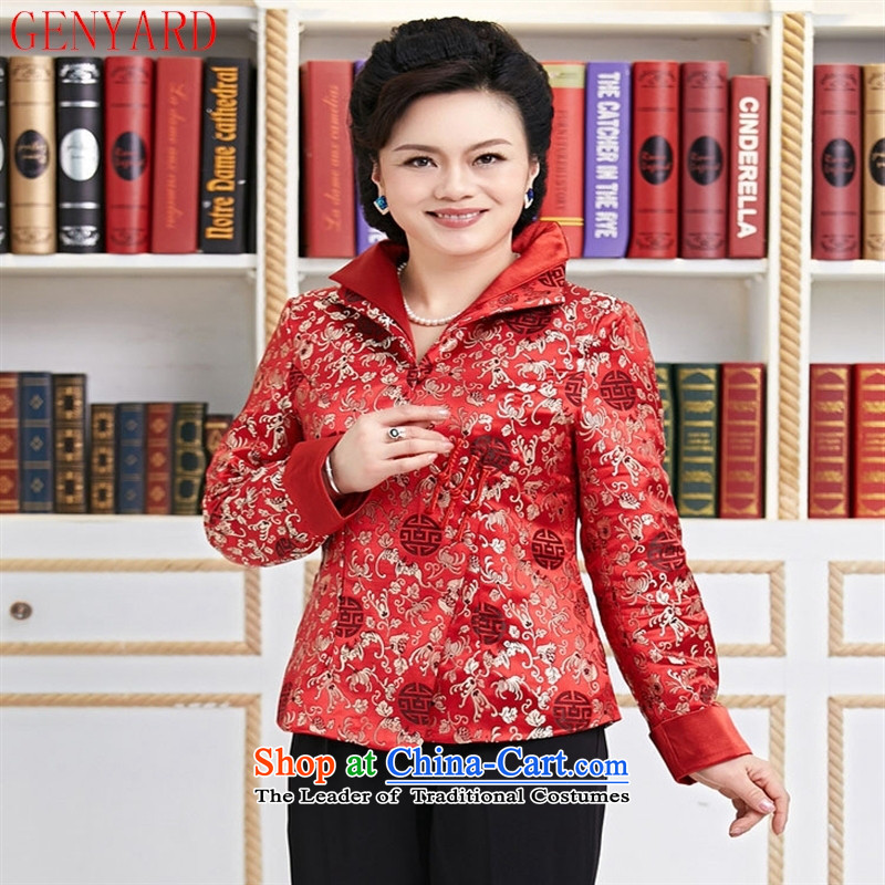 The elderly in new GENYARD Tang Dynasty, Tang Dynasty Chinese Ms. Tang dynasty improved dual need to come to grips for Tang dynasty MOM Pack Black XXXXL