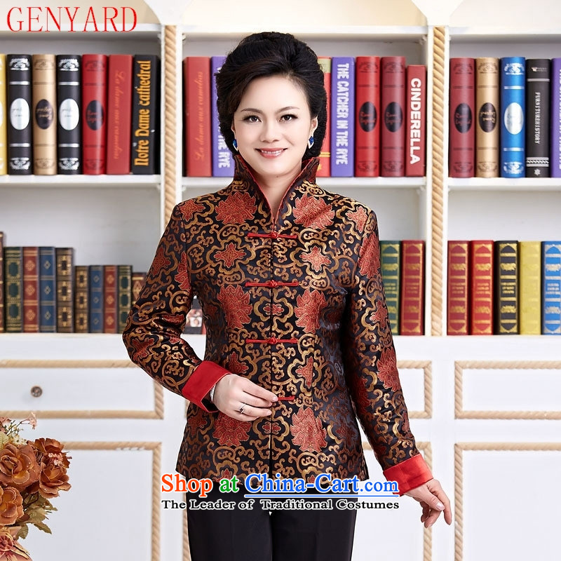 The elderly in accordance with tang GENYARD Yung-chun tang blouses jacket, Tang dynasty 2099 MOM Pack Black聽XL