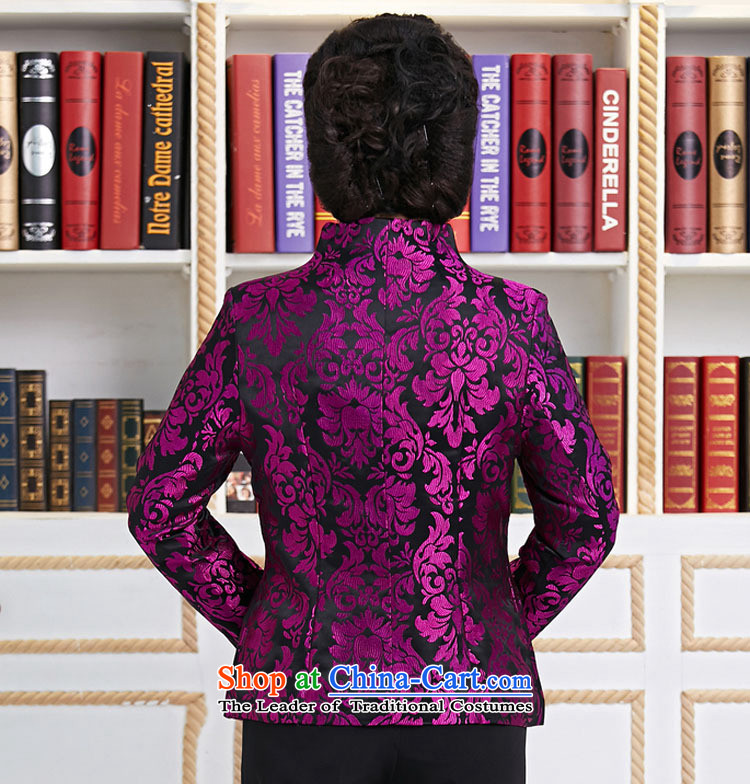 Ms. older GENYARD Tang dynasty Long-sleeve temperament as the spring and autumn jacket decorated mother coat purple mother replacing purple聽M picture, prices, brand platters! The elections are supplied in the national character of distribution, so action, buy now enjoy more preferential! As soon as possible.