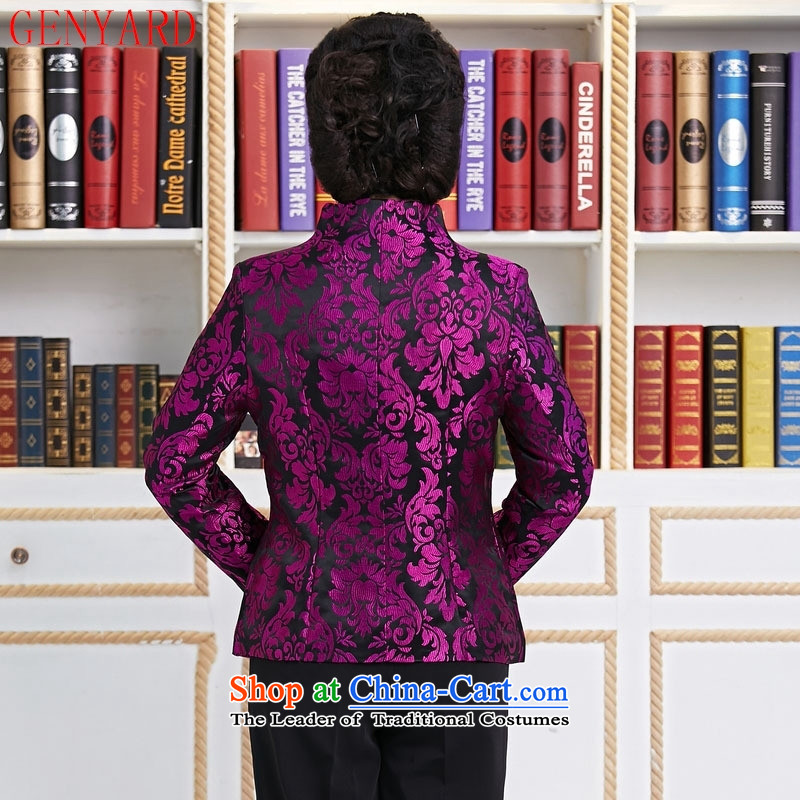 Ms. older GENYARD Tang dynasty Long-sleeve temperament as the spring and autumn jacket decorated mother coat purple mother replacing purple聽M,GENYARD,,, shopping on the Internet