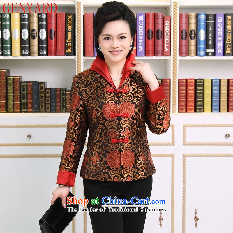 The elderly in accordance with tang GENYARD Yung-chun tang blouses jacket, Tang dynasty mother燲XXXL red
