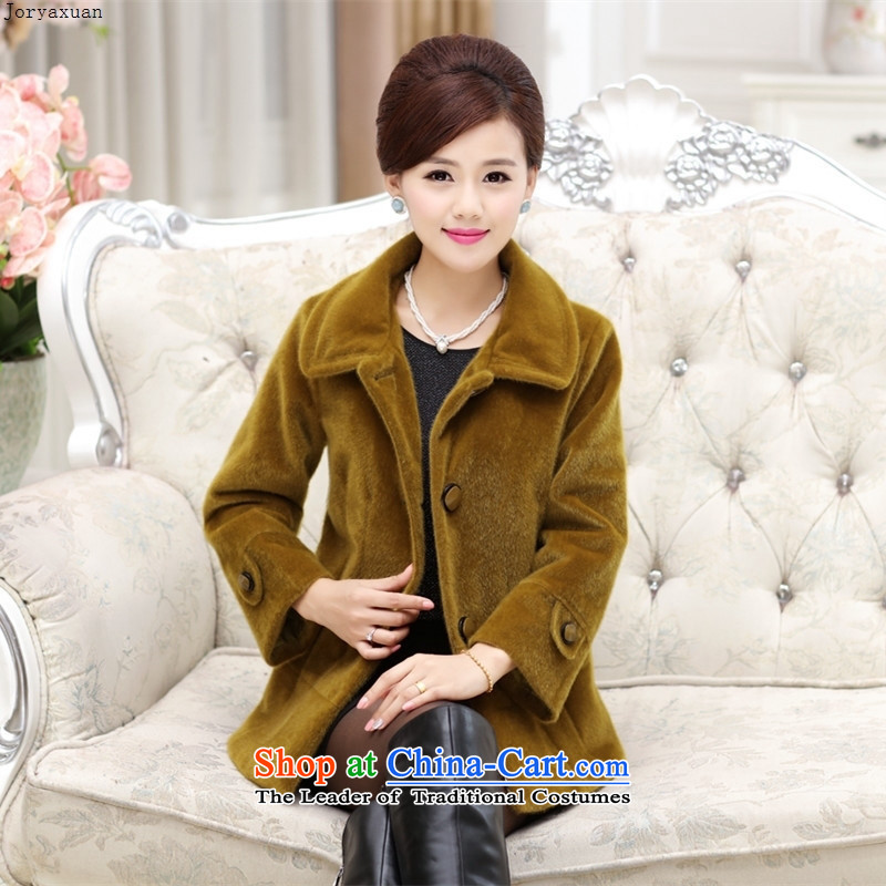 Web soft clothes and stylish in autumn and winter of older women cardigan jacket thick xl lapel of winter clothing mother Load T-shirt? Qiu Xiang gross�XXXL Wong