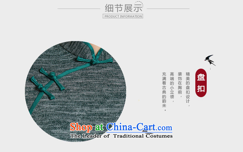 Yuan of knowing聽what 2015 retro hair knitted dresses with improved cheongsam dress autumn new 7 installed in the Cuff mother qipao聽QD296 older聽green聽XL Photo, prices, brand platters! The elections are supplied in the national character of distribution, so action, buy now enjoy more preferential! As soon as possible.