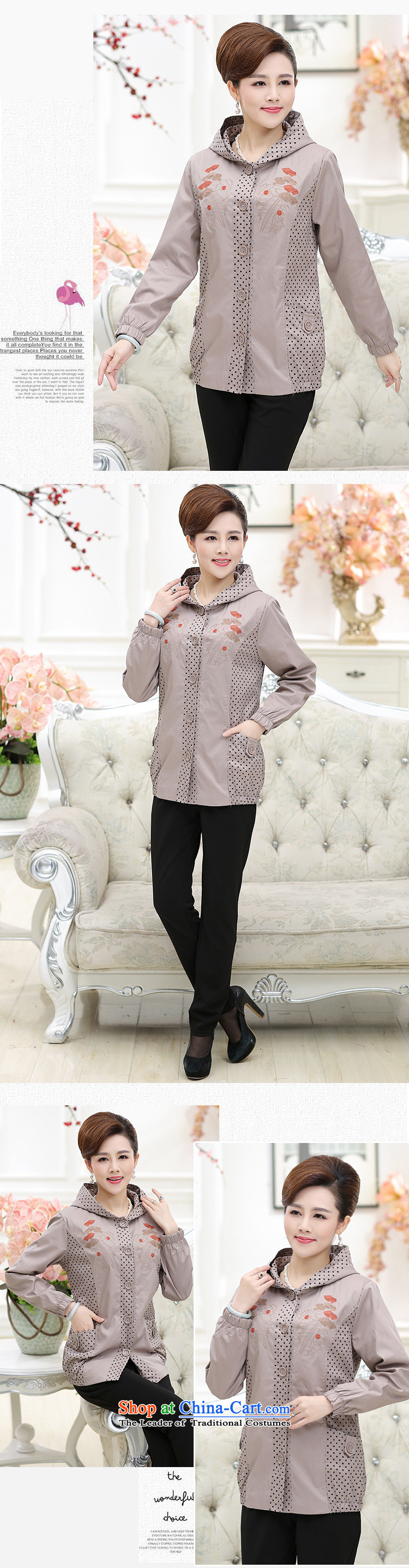 September female boutiques selling hot replace new moms autumn boxed long-sleeved dot cotton jacket in older women's Hoodie large gray聽XXXL picture, prices, brand platters! The elections are supplied in the national character of distribution, so action, buy now enjoy more preferential! As soon as possible.