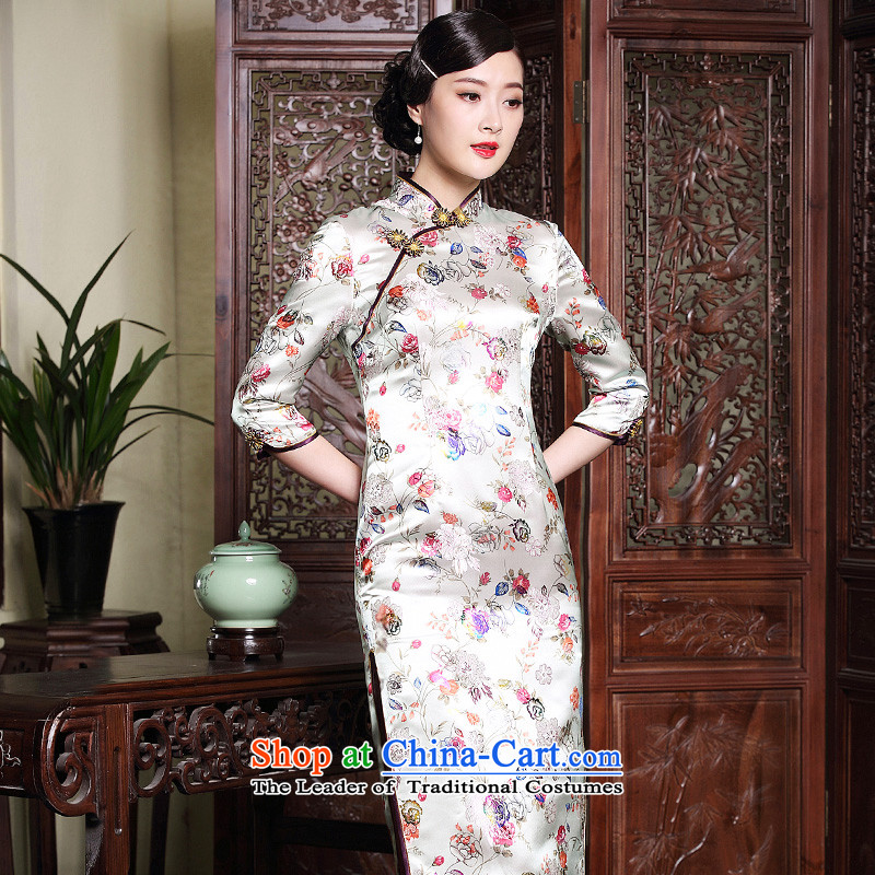 The Seal of autumn and winter new brocade coverlets improvement long qipao stamp retro 7 Ms. cuff dresses dress suit�XXXL�pre-sale 20 Days
