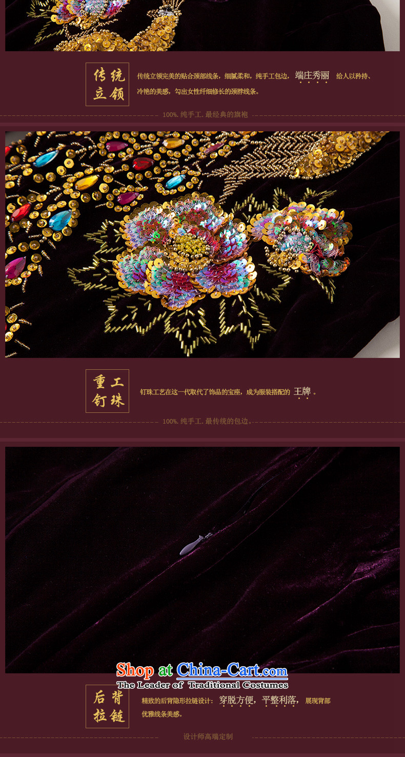 The Seal of autumn and winter new staple in the Pearl River Delta cuff velvet cheongsam manually modified wedding dresses retro mother dresses purple聽L picture, prices, brand platters! The elections are supplied in the national character of distribution, so action, buy now enjoy more preferential! As soon as possible.