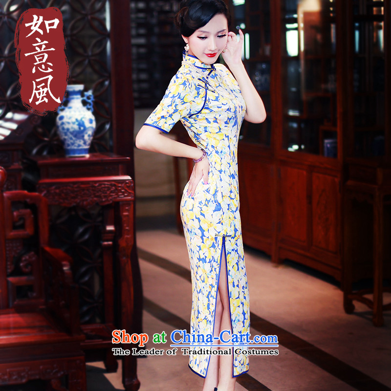 After a 2015 improved graphics wind Stylish slim, qipao dresses cheongsam dress autumn day-to-replace 5417 5417 suit�XL