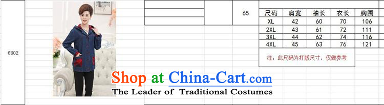 September 2015 Autumn Girl Store new elderly women autumn and winter jackets MOM pack large middle-aged cowboy HOODIE聽XXXL color picture pictures, prices, brand platters! The elections are supplied in the national character of distribution, so action, buy now enjoy more preferential! As soon as possible.