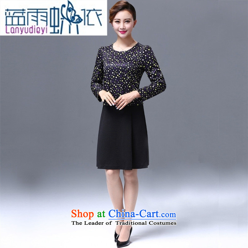 Ya-ting shop gangan world dresses fall inside the new 2015 middle-aged women's large load up or down one after another spell mother dresses�XXXXL map color