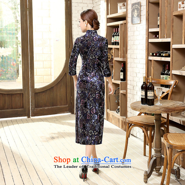 聽2015 Autumn smoke Dan Women's clothes Stretch Wool for cuff improved water droplets video in thin long cheongsam dress Figure Color聽S picture, prices, brand platters! The elections are supplied in the national character of distribution, so action, buy now enjoy more preferential! As soon as possible.