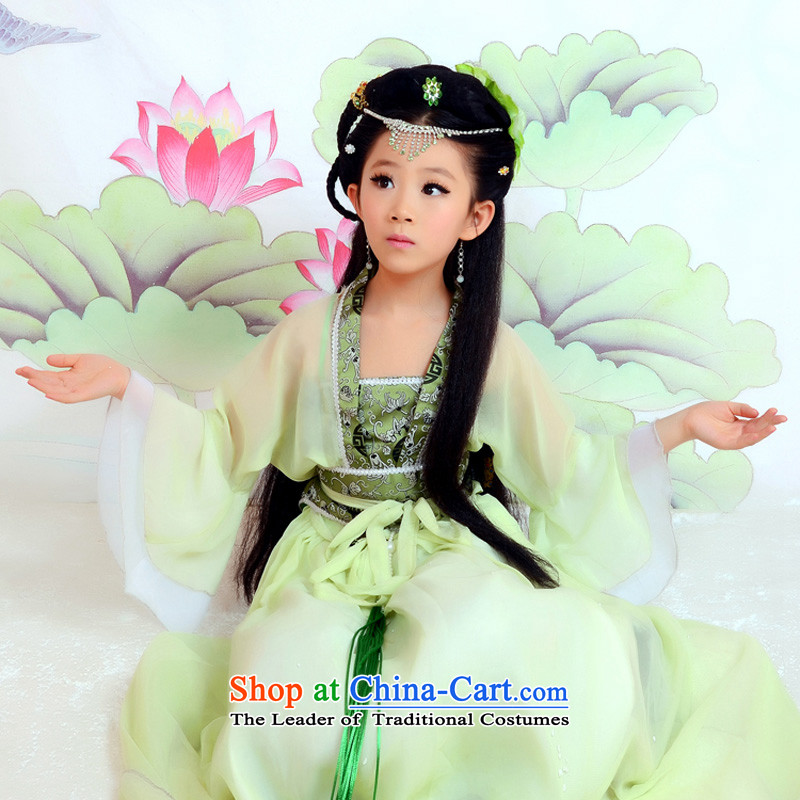 Time Syrian girls costume fairies replacing green you can multi-select attributes by using children dress with kids Princess floor clothing photo album dance performances to Princess Margaret Queen sleeper sofa with seven fairy guzheng Green 5.30