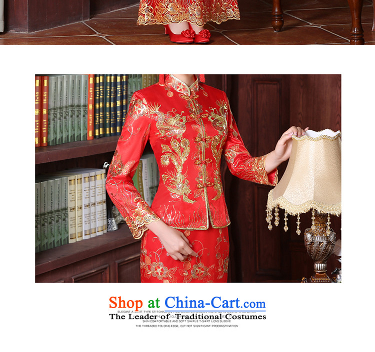 The privilege of serving good red bows service bridal dresses wedding dress Autumn Chinese wedding gown improved long dragon use su wo service female 9 cuff crowsfoot skirtS picture, prices, brand platters! The elections are supplied in the national character of distribution, so action, buy now enjoy more preferential! As soon as possible.
