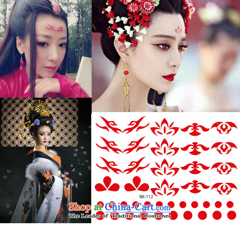 Time required economic heart of Syria styling sticker flower Datian beauty sticker Wu economic heart the totem waterproof tattoo designs of the Tang dynasty and the president Han-yung-Femme Fatale God 8