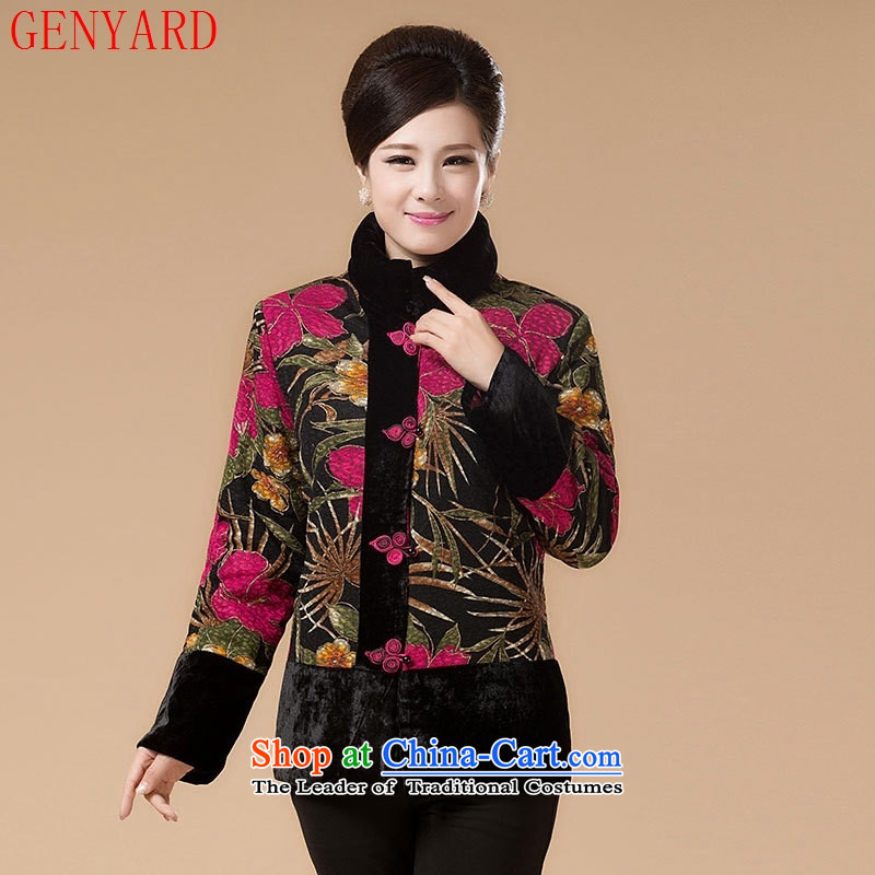 In the number of older women's GENYARD winter clothing new thick cotton coat of older persons in Tang Dynasty, Grandma mother short of large color pictures of the girl ?t��a?XL