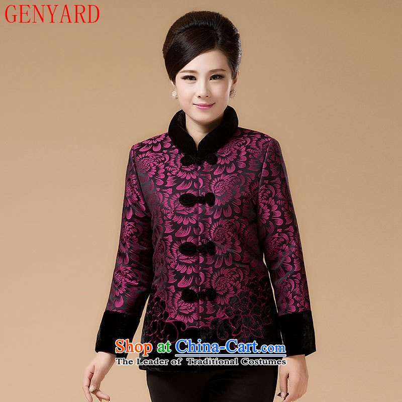In the number of older women's GENYARD winter coats cotton coat mother replacing replacing wedding dresses birthday grandma replacing Tang dynasty, COTTON SHORT聽5XL 02