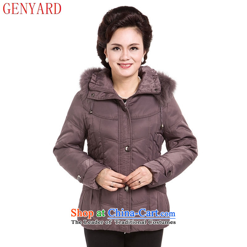 Genyard2015 winter clothing in the new age of female downcoat Short thick larger mother boxed middle-aged ladies warm jacket usual zongzi燲L_ size is too small._