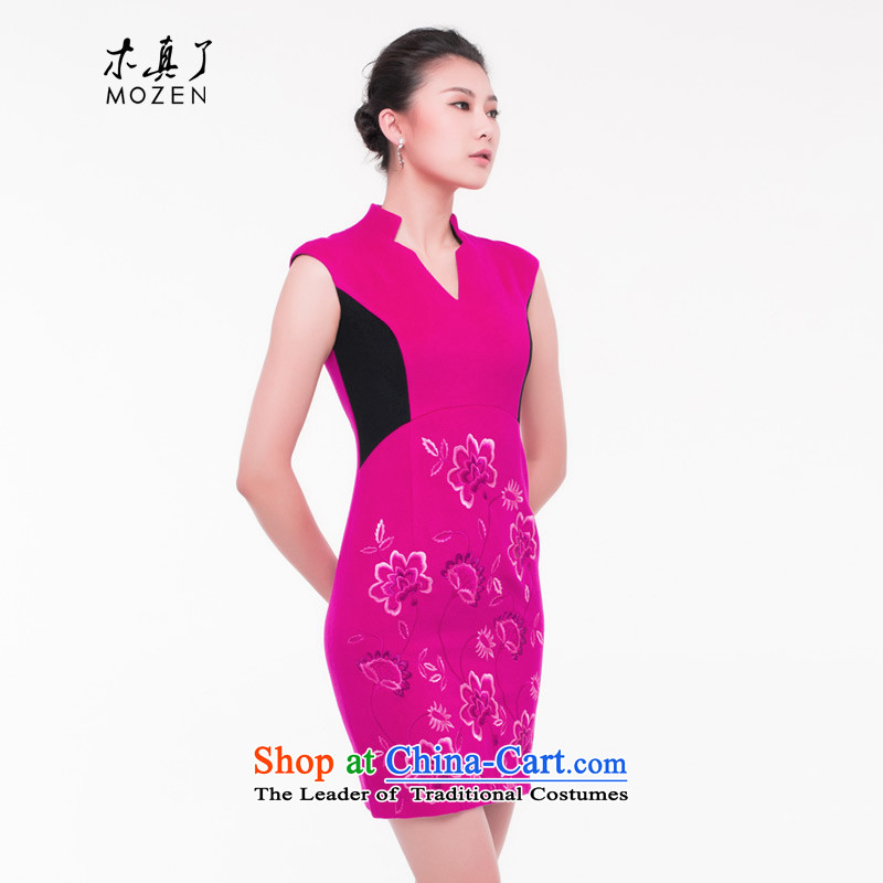 The wool qipao wood really skirt 2015 autumn and winter New Color Plane Collision Sau San cashmere dresses? female skirt 43165 gross DEEPPINK燬