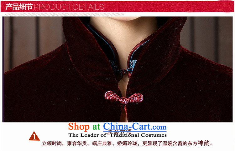 2015 with velvet shawl Tang dynasty and contemptuous of Mudan frock coat shirt with improved cheongsam, FZ BLUE聽XXL picture, prices, brand platters! The elections are supplied in the national character of distribution, so action, buy now enjoy more preferential! As soon as possible.