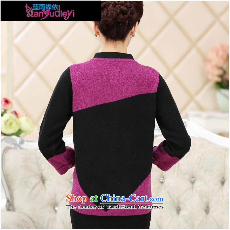 September Girl Store * trappings of older women Fall/Winter Collections gross jacket mother load? knitting cardigan long-sleeved sweater older persons thick red 125 Blue rain butterfly according to , , , shopping on the Internet