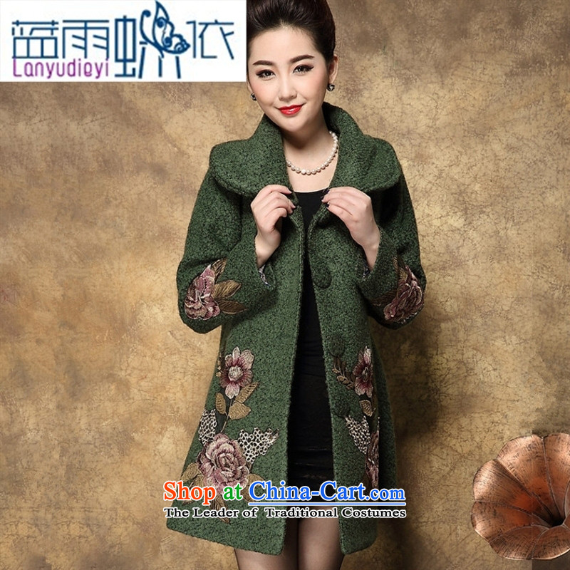 Shop 2015 Ya-ting the elderly in the autumn and winter load sense of science mother gross? long coats that larger thick coat female army green燲XL