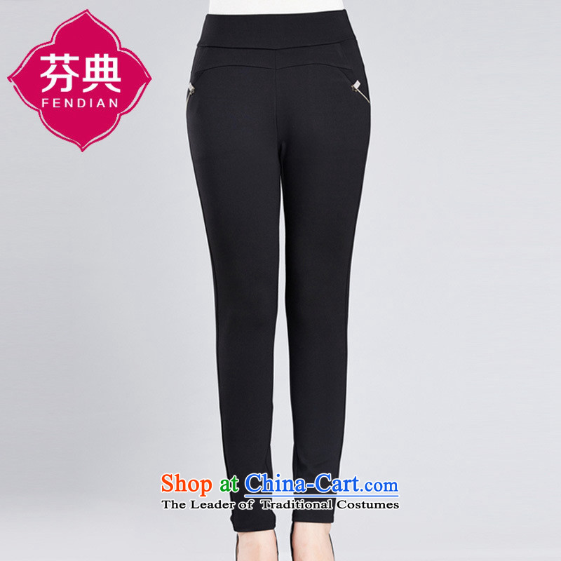In 2015, The Black Butterfly elderly ladies pants a very casual trousers large elastic stretch mother replacing older Houston lumbar elastic red?L