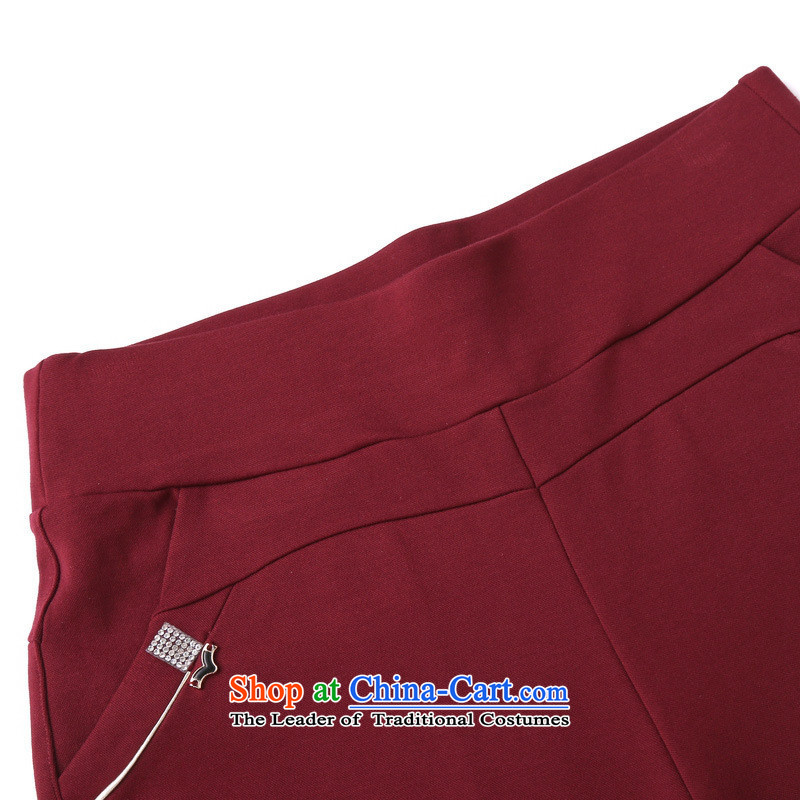 In 2015, The Black Butterfly elderly ladies pants a very casual trousers large elastic stretch mother replacing older Houston lumbar elastic red L,A.J.BB,,, shopping on the Internet