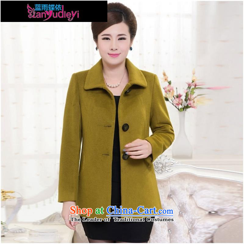 September Girl Store * trappings of older women's woolen coat 40-50-year-old middle-aged moms with short of autumn and winter new Fleece Jacket laffey red?�5XL