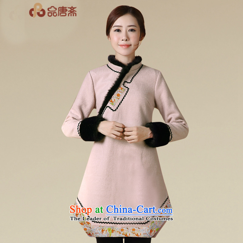 Tang Tang Dynasty Ramadan products female Winter Han-improved costume 2015 winter supplies Tang Ramadan China wind female Tang jackets qipao shirt map color S