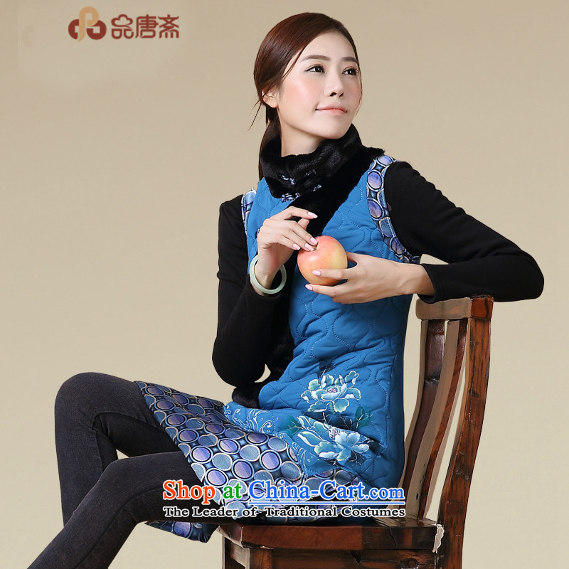 No. of Ramadan, Tang Tang Tang Dynasty Ramadan retro winter clothing, Ms. Han-kap improved map color T-shirt qipao聽S