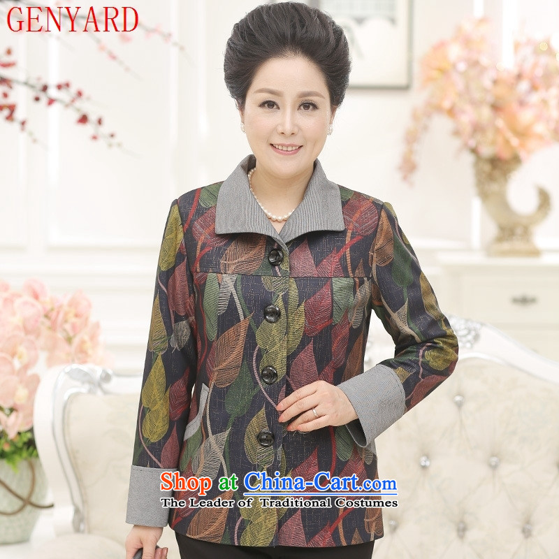 In the number of older women's GENYARD2015 autumn jackets and stylish with large relaxd mother won version�3 color jacket coat�2XL( recommendations 110-125 catties)