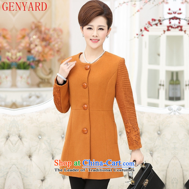 40-50-year-old mom 2015 Sau San installed in autumn jacket long 50-60-year-old elderly clothing for larger middle-aged female replacing Qiu Xiang green燲L