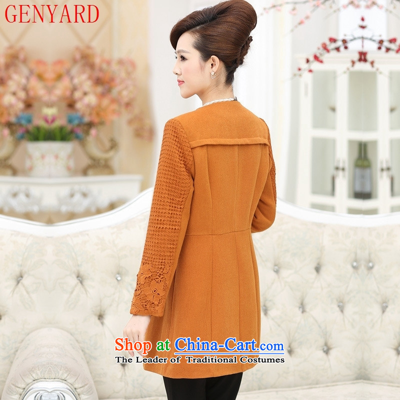 40-50-year-old mom 2015 Sau San installed in autumn jacket long 50-60-year-old elderly clothing for larger middle-aged female replacing Qiu Xiang green XL,GENYARD,,, shopping on the Internet