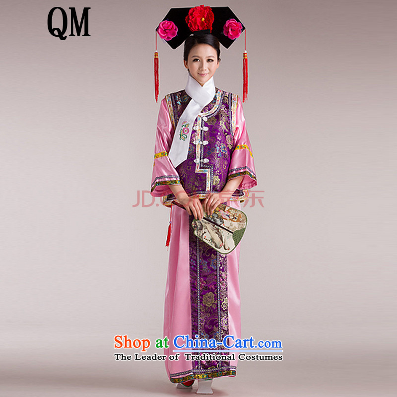 Ancient Han-Princess Huan Zhu Qing Hong Kong-Those Han-ancient palace lock bead curtain flag services for women of the Manchurian Palace clothing?CX4?purple 1 m 4-1 meters children 5