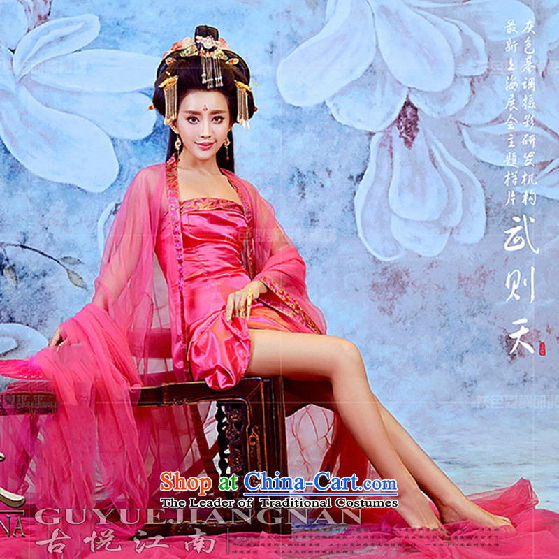 Time Syrian Wu clothing costume Han-Tang Dynasty Gwi-tail Gwi-load of Queen's red stage performances with Han-fairies services Halloween rose?S