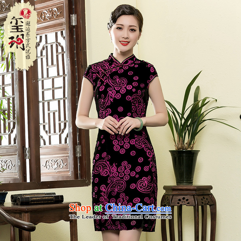 The seal of a?new summer 2015) scouring pads elegant qipao short-sleeved Ms. daily Chinese improved Shanghai dresses picture color?4XL