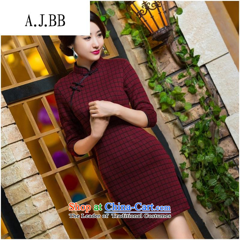 The Secretary for Health related shops _ qipao autumn and winter new gross qipao? In cuff large retro qipao latticed ethnic聽271 S