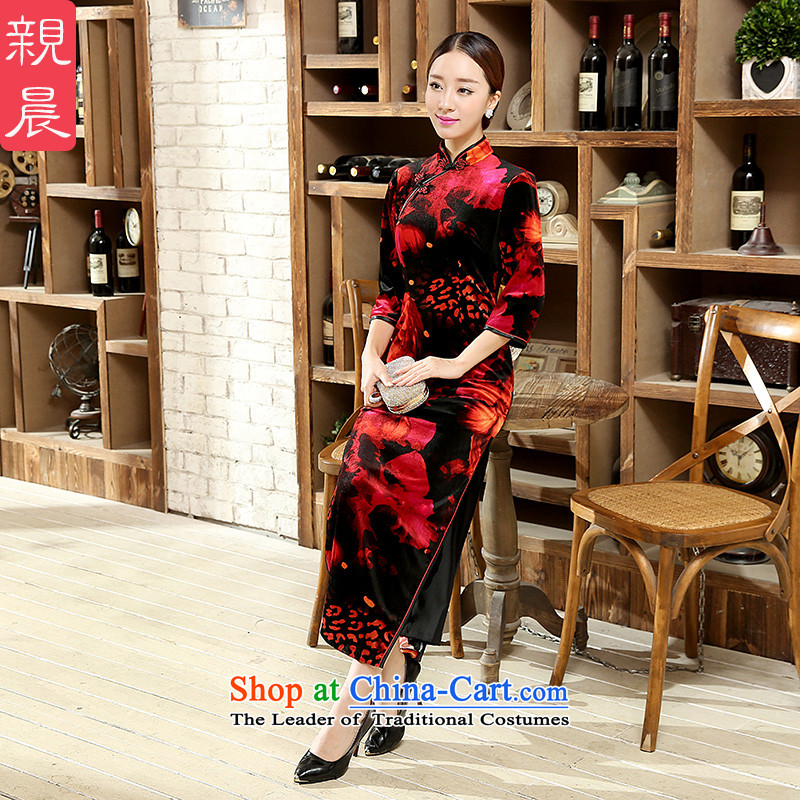 Stretch Wool qipao Kim Fall_Winter Collections daily stylish classic in Sau San improved long antique dresses larger long�L