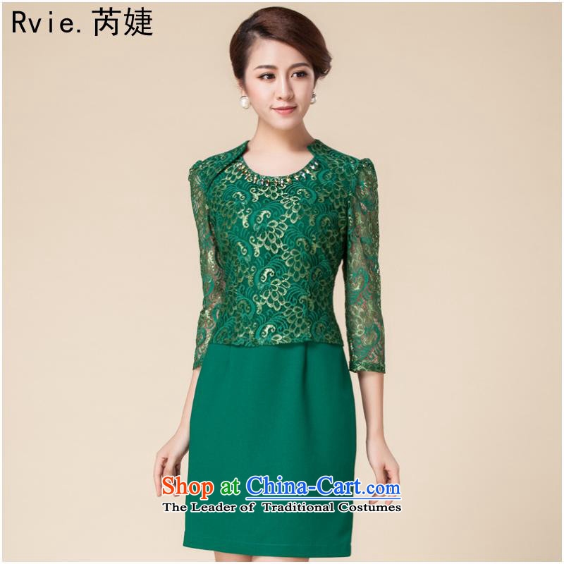 The new hot autumn and winter women's dresses in the retro cuff improved dresses engraving lace cheongsam dress in red燬