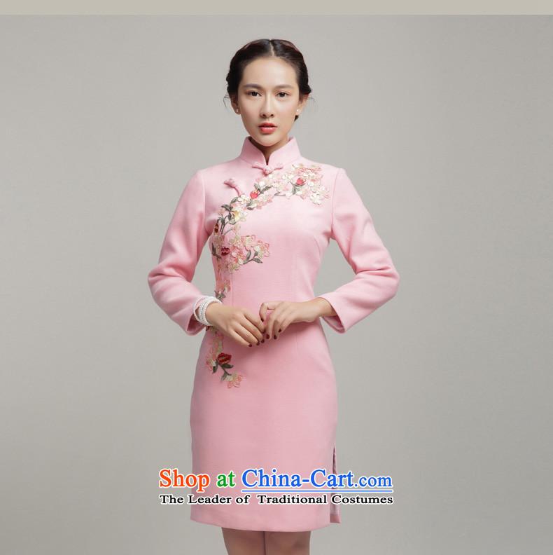 ec26fd3ffdf Bong-migratory 7475 gross cheongsam dress  2015 new winter long-sleeved  improved stylish