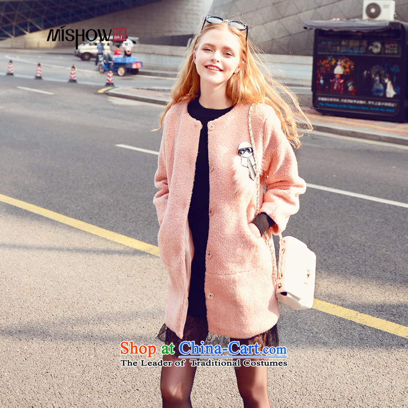 Use Show燦ew Winter 2015 small incense at the time a wind coats that long aristocratic Women's jacket? gross pink燬
