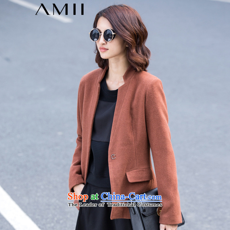 Amii- minimalist -2015 winter new larger collar Fold Bag gross 11571771? jacket caramel燲XL